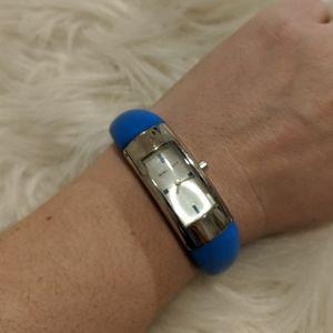 Nine West Blue Rubber Watch